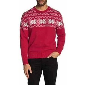 NWT Weatherproof Vintage Men's Knit Sweater Red the holiday sweater L